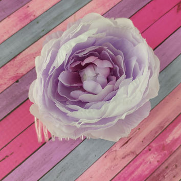 Flower Hair Comb - Lavender Peony