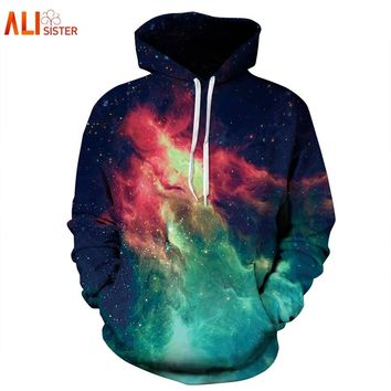 Alisister Bts Brand Clothing Galaxy Hoodies 3D Print Space Sweatshirt Men Women's Harajuku Punk Hip Hop Traxksuit Drop Ship