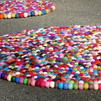 3ft YUMMI Round Felt Rug 90cmTagt Tag Team by Crafttasticparties