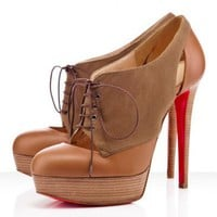 Christian Louboutin Gilet 140mm Booties Camel
