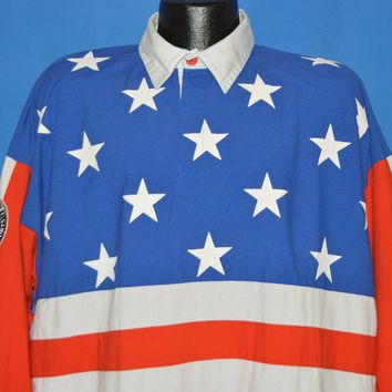 90s Starter American Flag All Over Pocket shirt Extra Large
