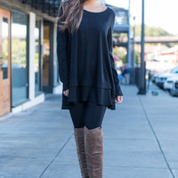 Double The Fun Tunic, Black