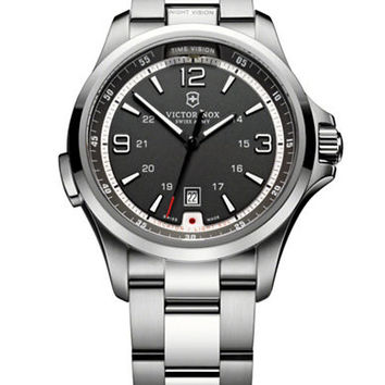 Victorinox Swiss Army Men's Stainless Steel Black Dial Watch
