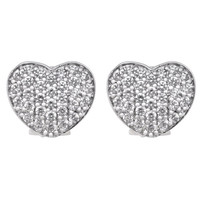 Large Cubic Zirconia Heart