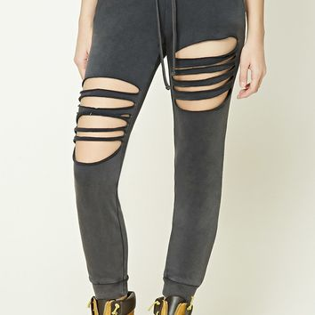 Ladder Cutout Joggers