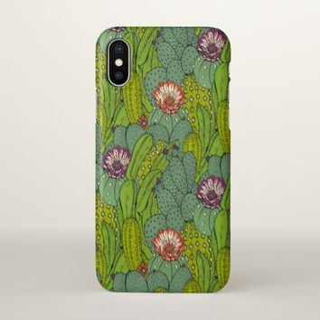 Cactus Flower Pattern iPhone X Case