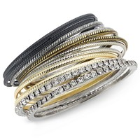 INC International Concepts Pave Rhinestone Bangle Bracelet Set