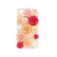 Rosette & Pearl IPhone 4 Case: Charlotte Russe