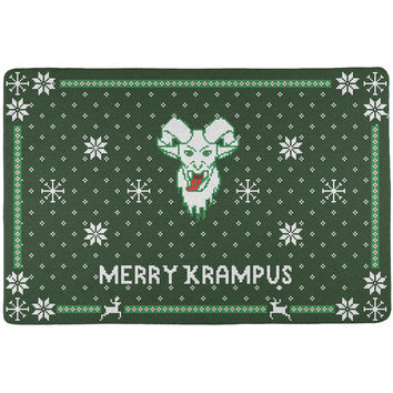 Christmas Merry Krampus Ugly Xmas Sweater All Over Placemat