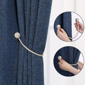 Simple Modern Magnet Curtains Tie Buckle Window Curtains Magnetic Tieback Holder Curtain Strap Accessories
