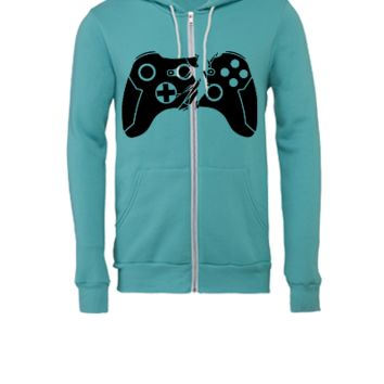Broken Controller - Unisex Full-Zip Hooded Sweatshirt
