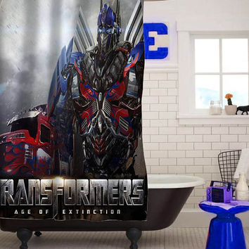 Transformers Age of Extinction Latest custom shower curtain