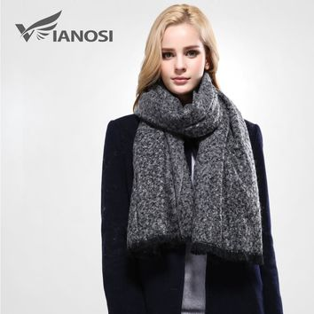 [VIANOSI]  New Brand Scarf Women Winter Foulard Wool Solid Shawls and Scarves Best Quality Cotton Scarf Woman Wraps VA091