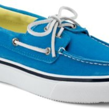 Sperry Top-Sider Bahama Salt Washed 2-Eye Boat Shoe BlueSaltWashedCanvas, Size 12M  Men's Shoes