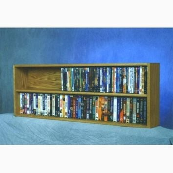 Wood Shed Solid Oak Wall or Shelf Mount DVD/VHS tape/Book Cabinet