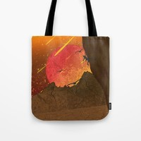 When The Red Moon Appears Tote Bag by Berwies