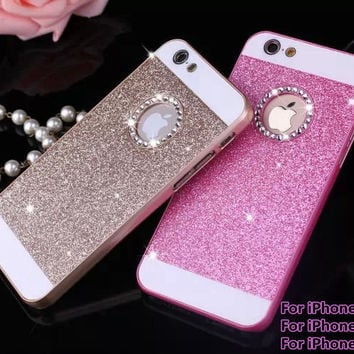 Bling Bling Fashion For apple iphone 4 4s 5 5s SE 6 6s Shinning Case Glitter Protector Cell Phone Back Cover