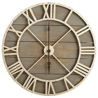 Rustic Wall Clock - Gray