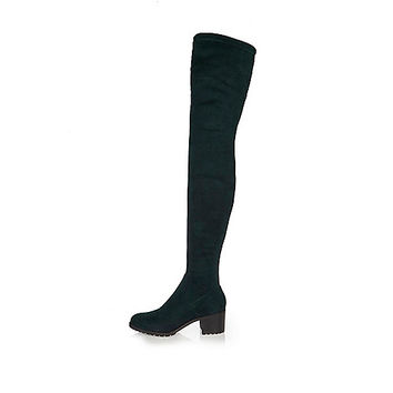 Dark green over-the-knee boots - boots - shoes / boots - women