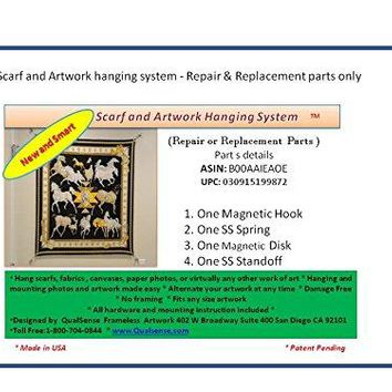 Scarf and Artwork hanging system - Repair & Replacement parts kit only