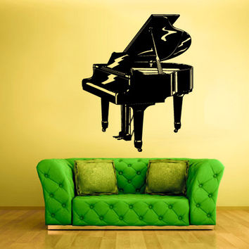 rvz784 Wall Decal Vinyl Sticker Decor Art Bedroom Decal Piano Music Note