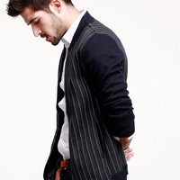 Block Stripe Long-Sleeve Zipper Jacket