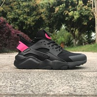 Sale Nike Air Huarache 4 Rainbow Ultra Breathe Men Women Hurache Black/Pink Running Sport Casual Shoes Sneakers - 110