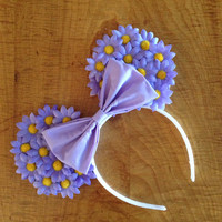 Purple Daisy Mouse Ears