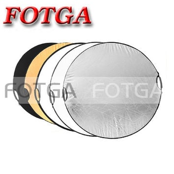 "Free shipping 5 in 1 110cm 43"" Portable Collapsible Light Round Photography Reflector for Studio Multi Photo Disc"
