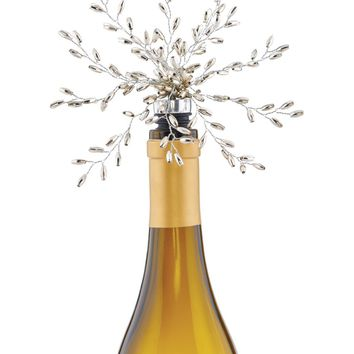 Gilded Beaded Branches Wine Stopper