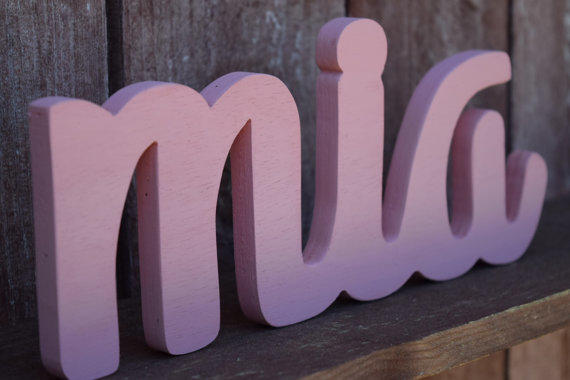 Mia - Nursery Baby Name Sign Wood - from lucysletters123 ...
