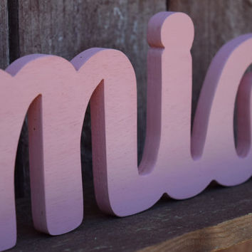 Mia - Nursery Baby Name Sign Wood - Nursery, Baby Name, Children's Name, Home Decor
