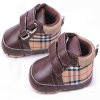 Baby Boy Plaid Shoes