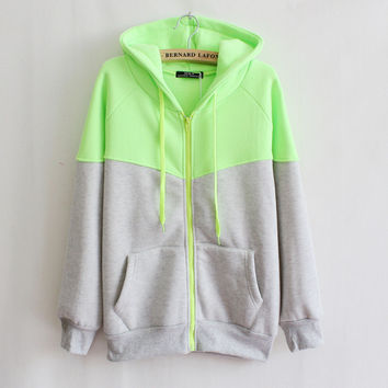 Women Hoodies Zipper Sweatshirts Sport Jacket Coat