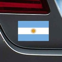 "Argentina Flag 4"" Vinyl Decal Bumper Sticker Soccer Football Sport Car Macbook"