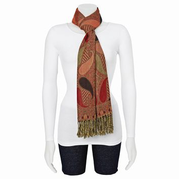 Pashmina Fashion Scarf - Available in Red, Black & Gold/Blue & Pink