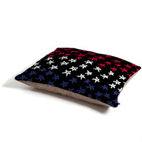 Lisa Argyropoulos Red White And Blue Stars Night Pet Bed
