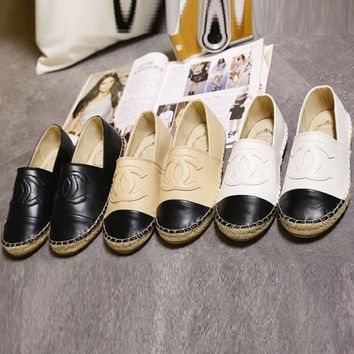 Chanel Fashion Women Espadrilles Flats Shoes