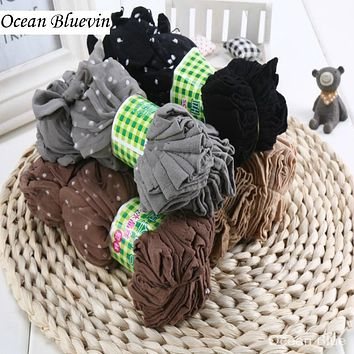 10 Pairs/ Lot Fashion New Cool Breathable Women's Summer Silk Socks Black Skin Gray 5 Colors Dots Pattern Quality Flexible Sock