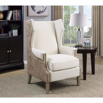 Strikingly Suave Accent Chair, Cream