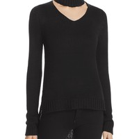 AQUACutout Neck Sweater
