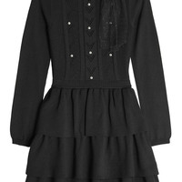 Wool Dress with Embellished - RED Valentino   WOMEN   KR STYLEBOP.COM