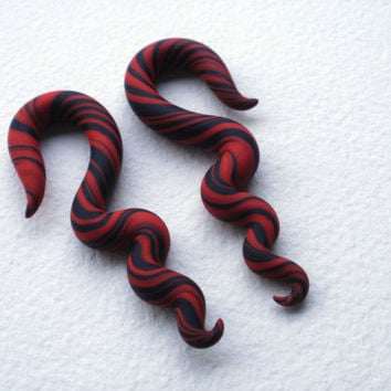 Red and Black Warped Taper - 2 Gauge - 0 Gauge - 00 Gauge
