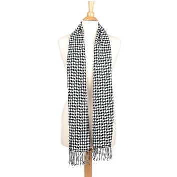 Cashmere Feel Winter Scarf with Fringe