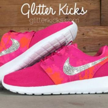 Bling Women's Nike Roshe Run Blinged Out With Swarovski Crystal Rhinestones - Nikes, B