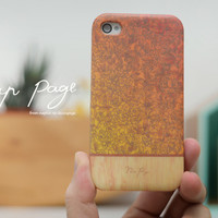 apple iphone case : abstract pattern on wood (not real wood)
