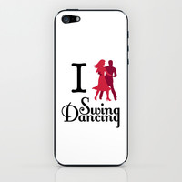I (Dance) Swing Dancing iPhone & iPod Skin by Natalie Ryder