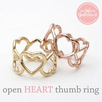 girlsluv.it - open HEART thumb ring, 2 colors