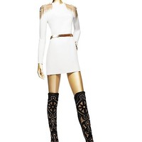 Versace - Silk Short Dress With Epaulettes