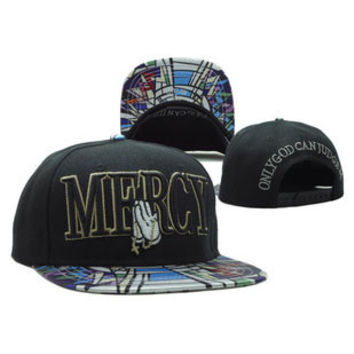 Cayler & Sons Mercy Only God Can Judge Me Mickey Mouse Drake OVO 6 God Praying Hands Black Hip Hop Baseball Cap Snapback Hat